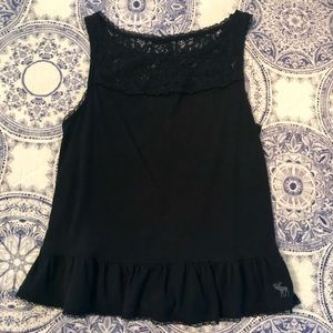 Abercrombie & Fitch navy lace tank